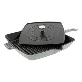 Staub Cast Iron, 12-inch Enamel Grill pan