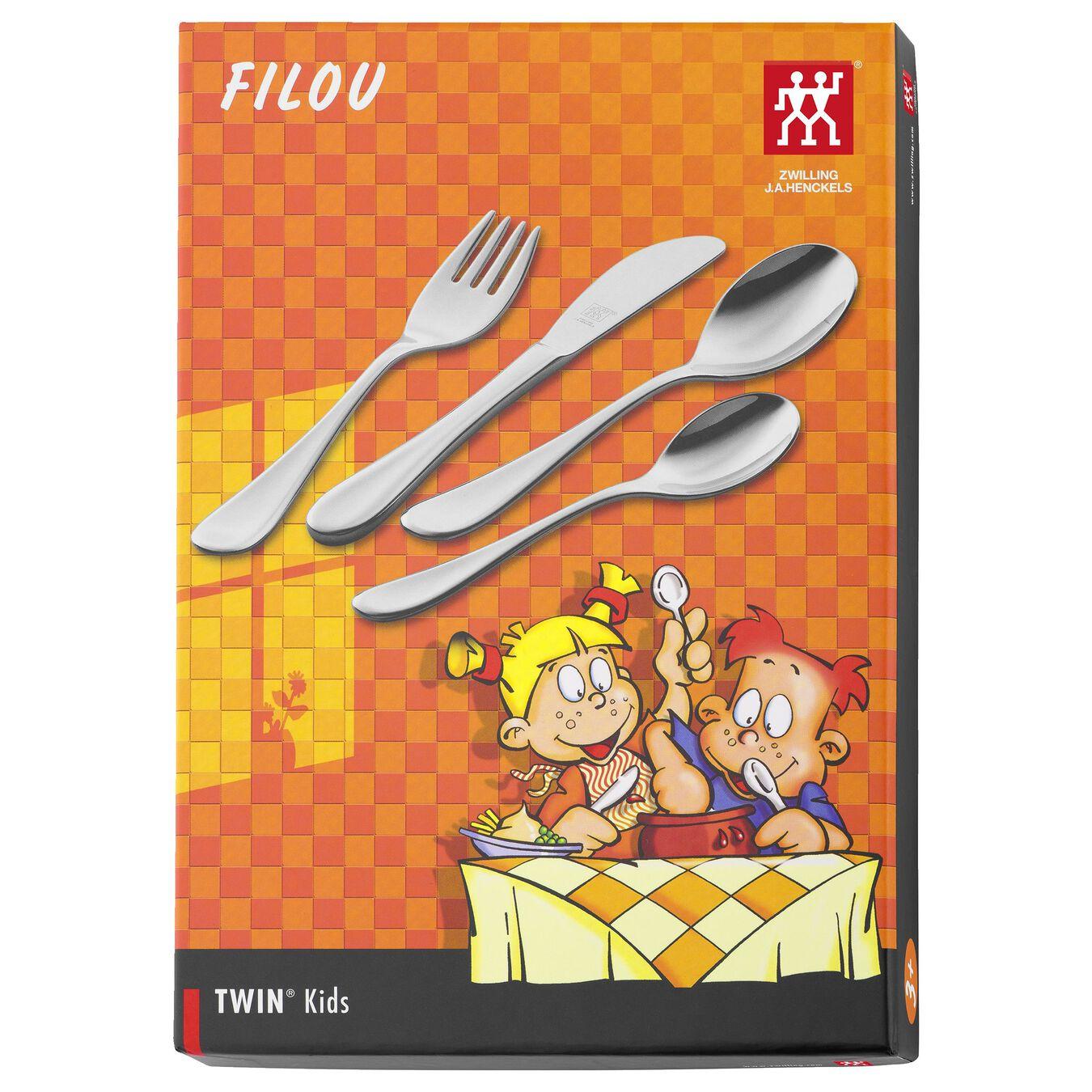 Filou Kinderbesteck 4-tlg, poliert,,large 6