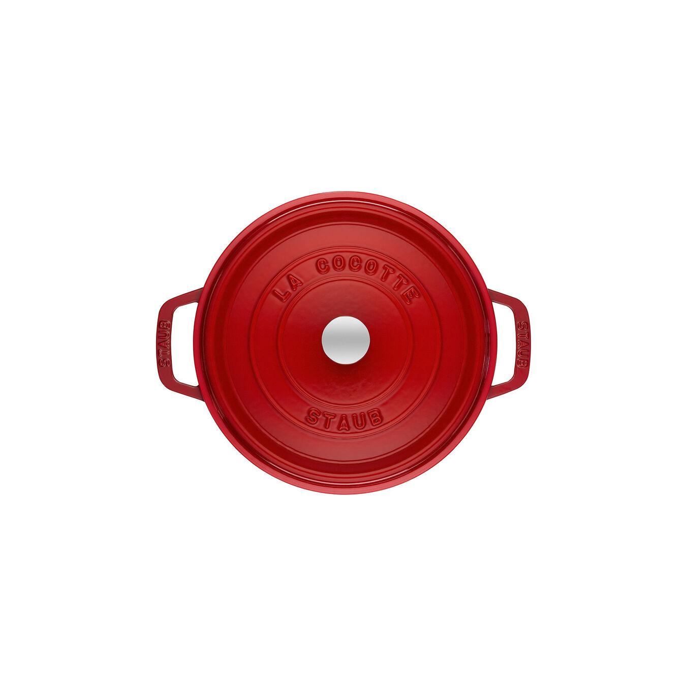 Cocotte rotonda - 18 cm, ciliegia,,large 2