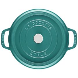 Staub Cast Iron, 4 qt, round, Cocotte, turquoise