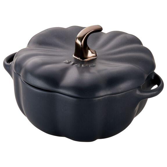 0.75-qt Pumpkin Cocotte, Black,,large