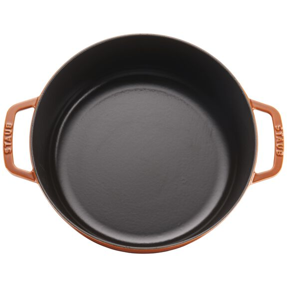 6-qt Cochon Shallow Wide Round Cocotte - Burnt Orange,,large 3