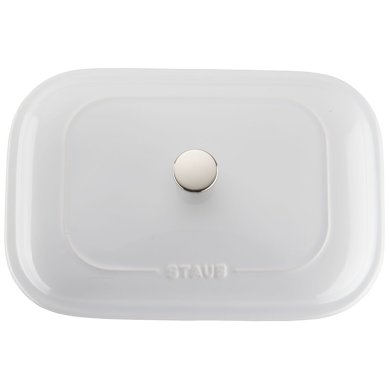 12-inch x 8-inch Rectangular Covered Baking Dish - White,,large 4