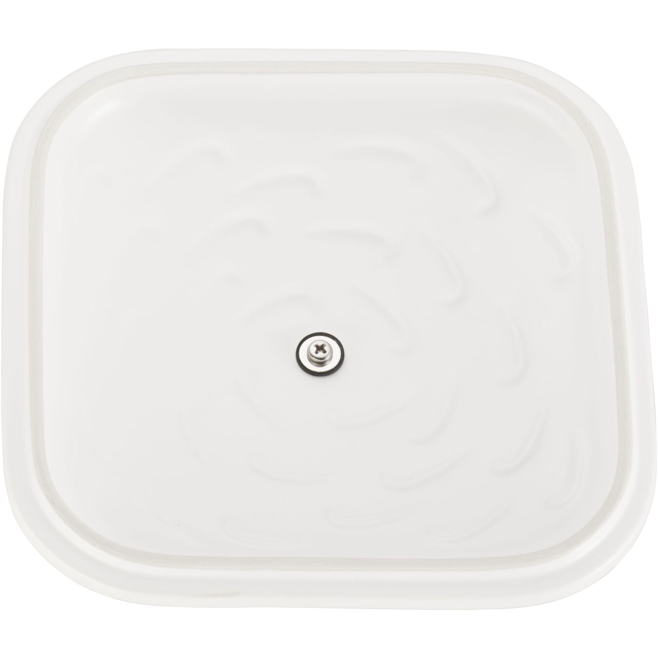 9-inch, square, Special shape bakeware, matte white,,large 5