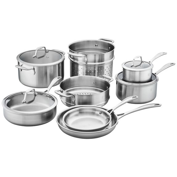 3-ply 12-pc Stainless Steel Cookware Set,,large