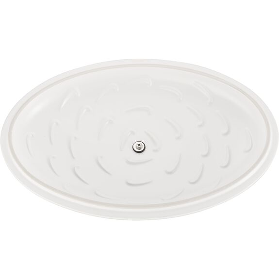 """14"""" Oval Covered Baking Dish, Matte White, , large 5"""