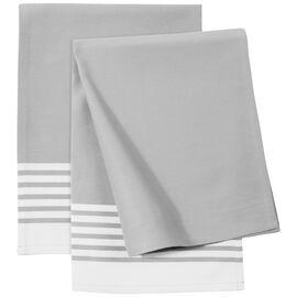 ZWILLING Textiles, Küchenhandtuch Set gestreift, 2-tlg   Grau