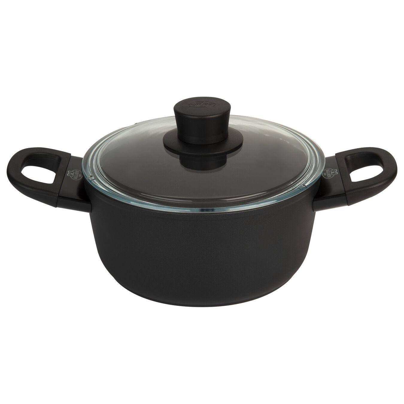 aluminium Stock pot with glass lid,,large 2