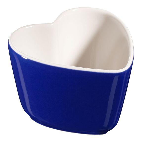 Sufle Kabı Seti, 2-parça | Koyu Mavi | Kalp,,large