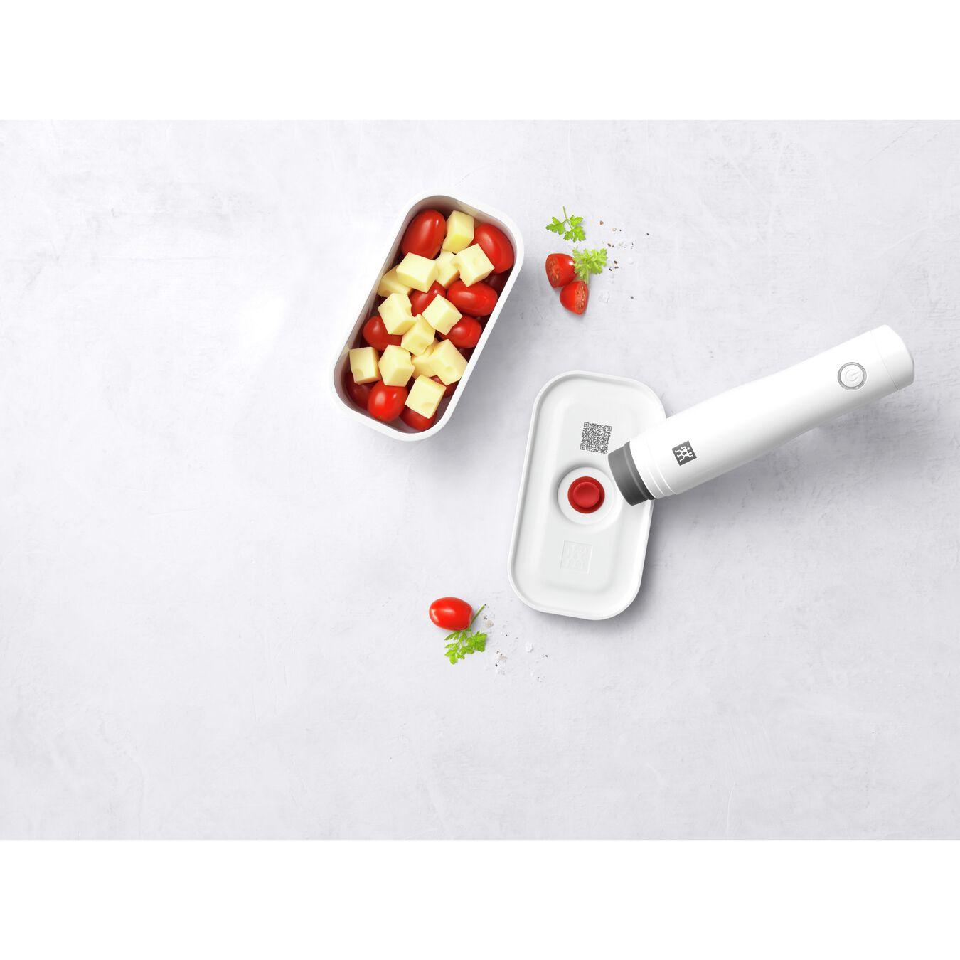 Vakuum Lunchbox, S, Kunststoff, Weiß-Rot,,large 5