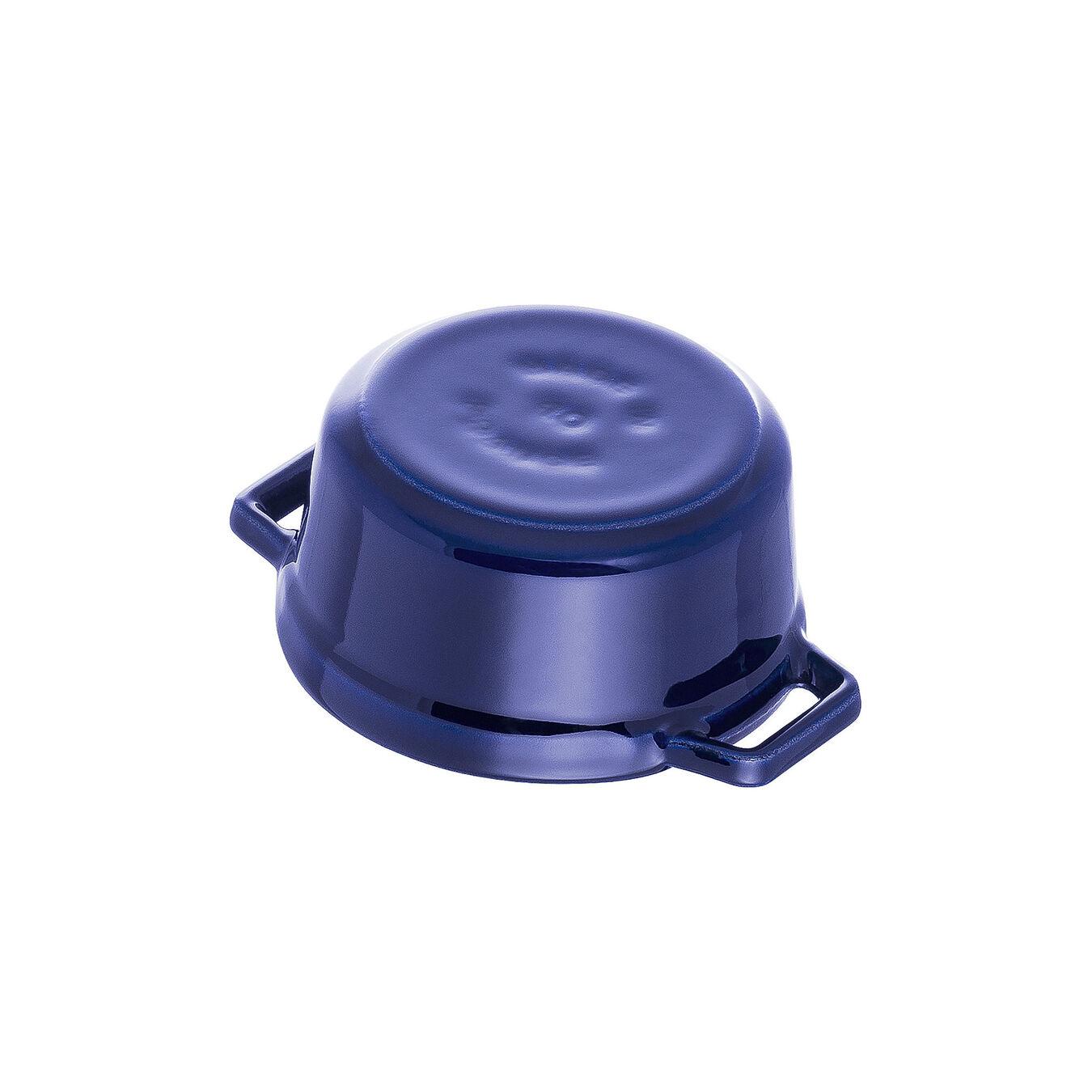 Mini Cocotte 10 cm, Rond(e), Bleu intense, Fonte,,large 3