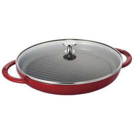 Staub Cast Iron, 10-inch Round Steam Grill - Cherry