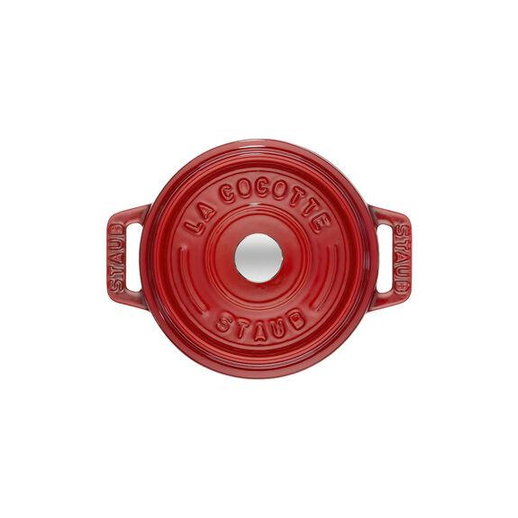 0.25-qt Mini Round Cocotte - Cherry,,large 2