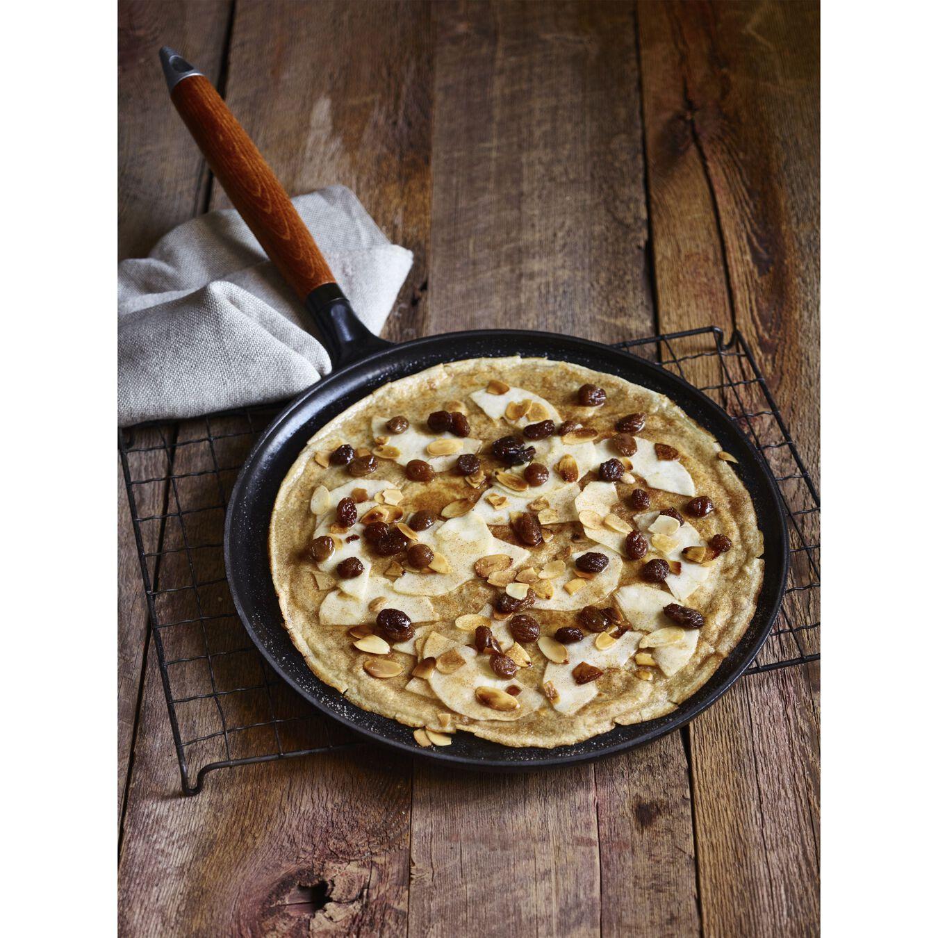 Pancake pan with wooden handle, black matte,,large 3