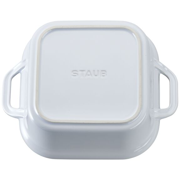9-inch X 9-inch Square Covered Baking Dish - White,,large 3