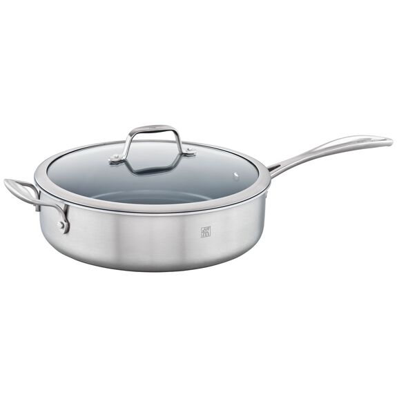 3-ply 5-qt Stainless Steel Ceramic Nonstick Saute Pan,,large 4