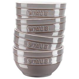 Staub Ceramique, Set di ciotole - 4-pz., grigio antico