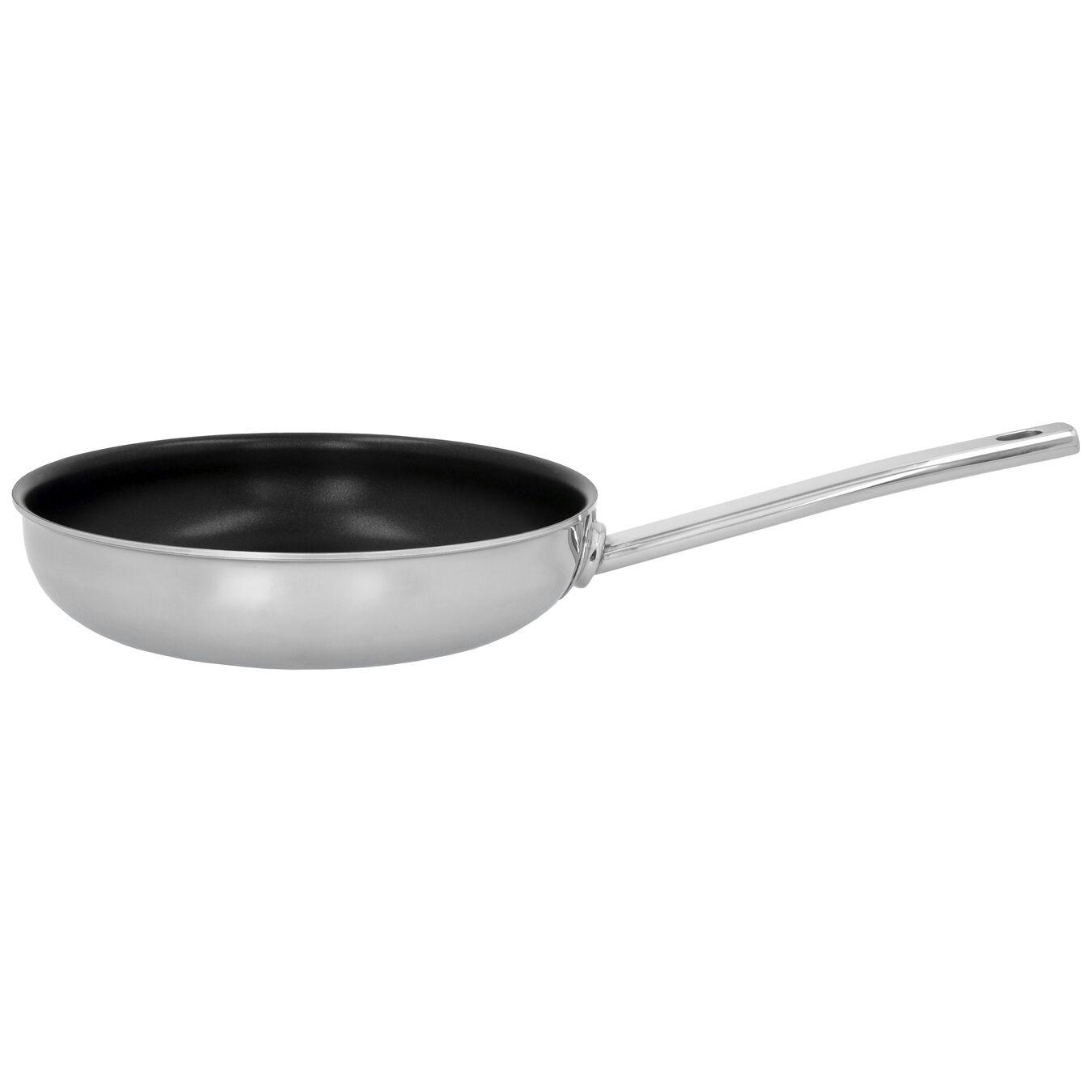 Poêle 24 cm, Inox 18/10, Noir argenté,,large 1