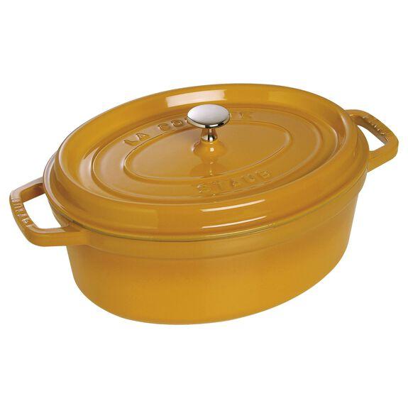 3.5-qt-/-27-cm oval Cocotte, Mustard,,large 2