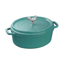 Staub Cast Iron, 5.75-qt Coq au Vin Cocotte - Turquoise