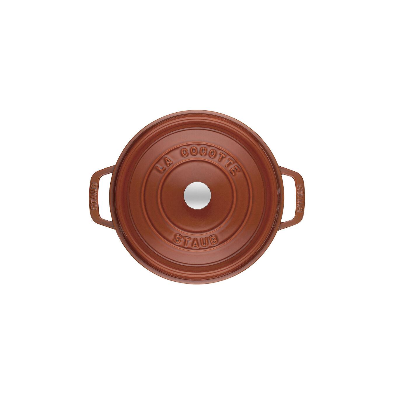 Cocotte 22 cm, rund, Zimt, Gusseisen,,large 2