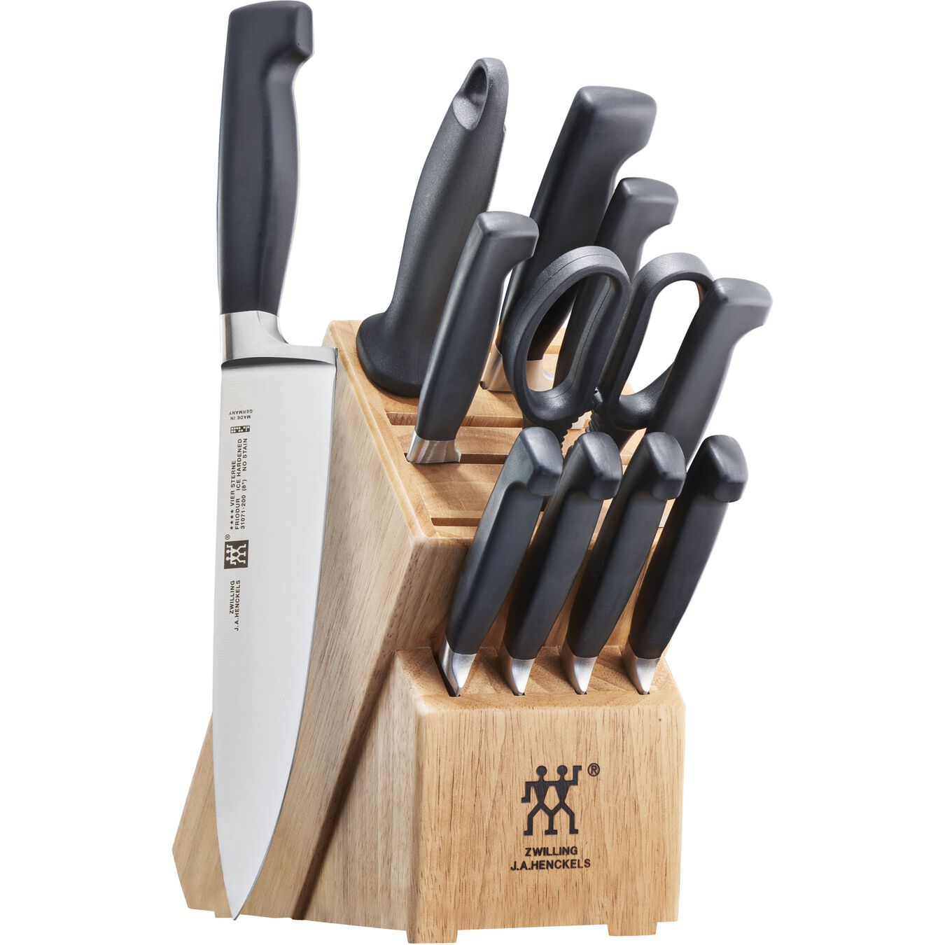 13-pc, Knife block set, walnut,,large 2