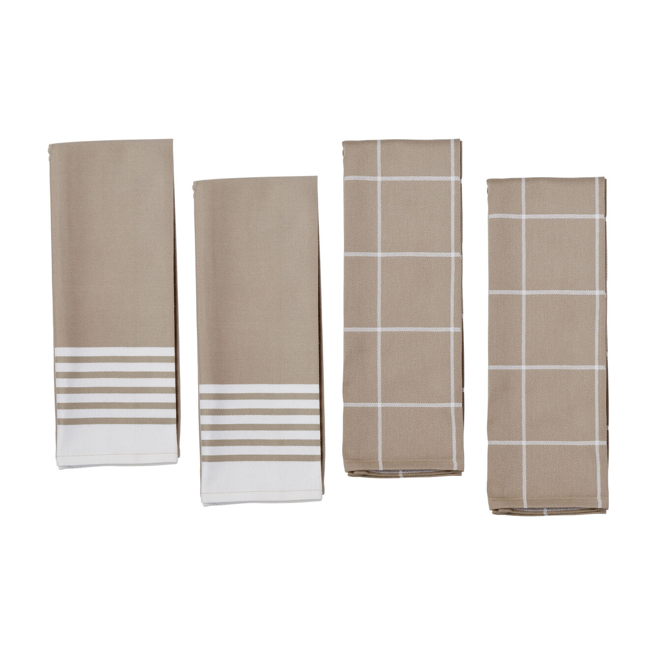 Kitchen towel, taupe,,large 1
