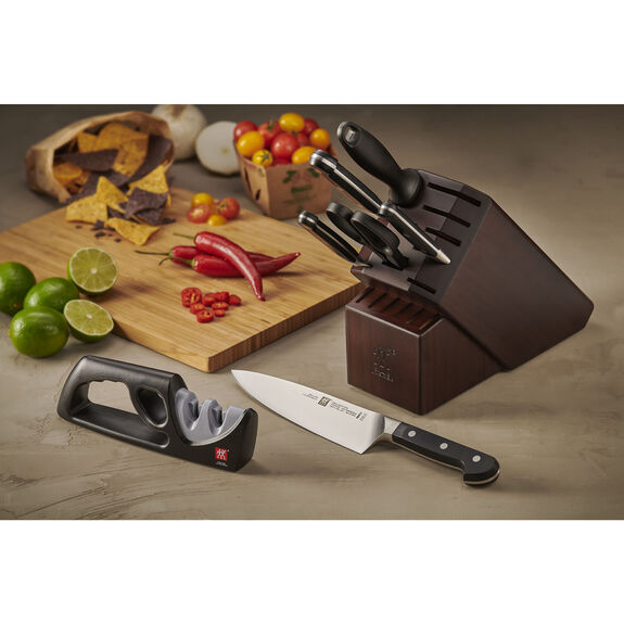 7-pc Knife Block Set with Bonus Sharpener,,large 3