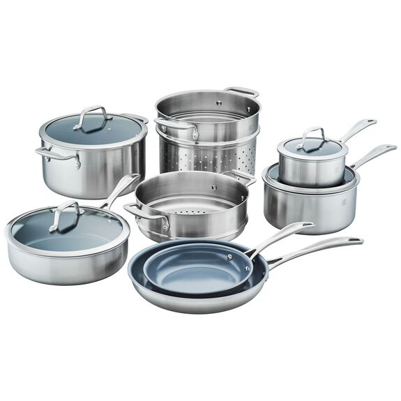 12-pc  Pots and pans set,,large