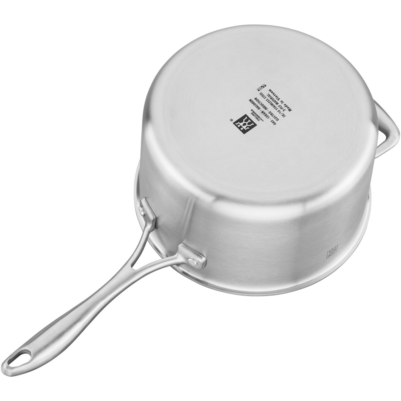 3-ply 4-qt Stainless Steel Ceramic Nonstick Saucepan,,large 1