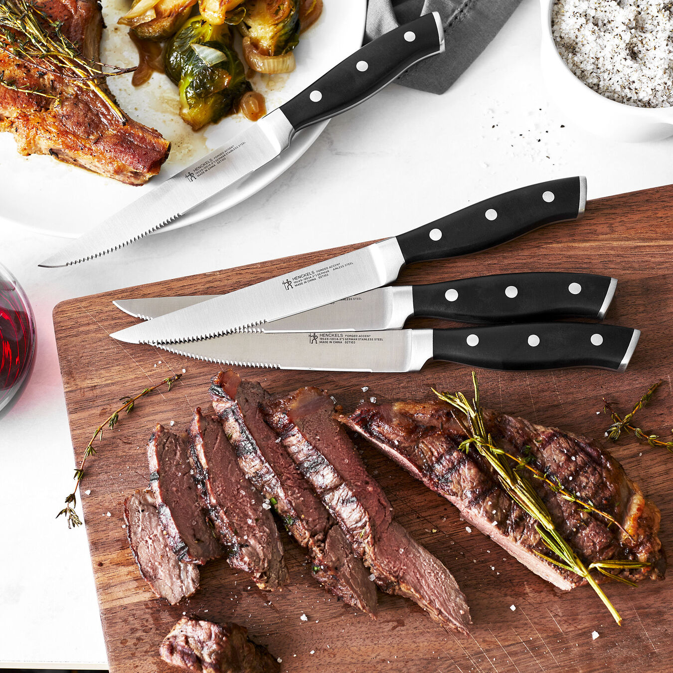 4-pc, Steak set,,large 4