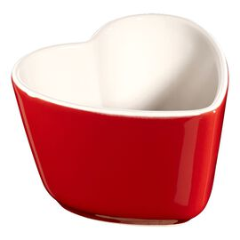 Staub Ceramics, 2-pc Heart Shaped Ramekin Set - Cherry