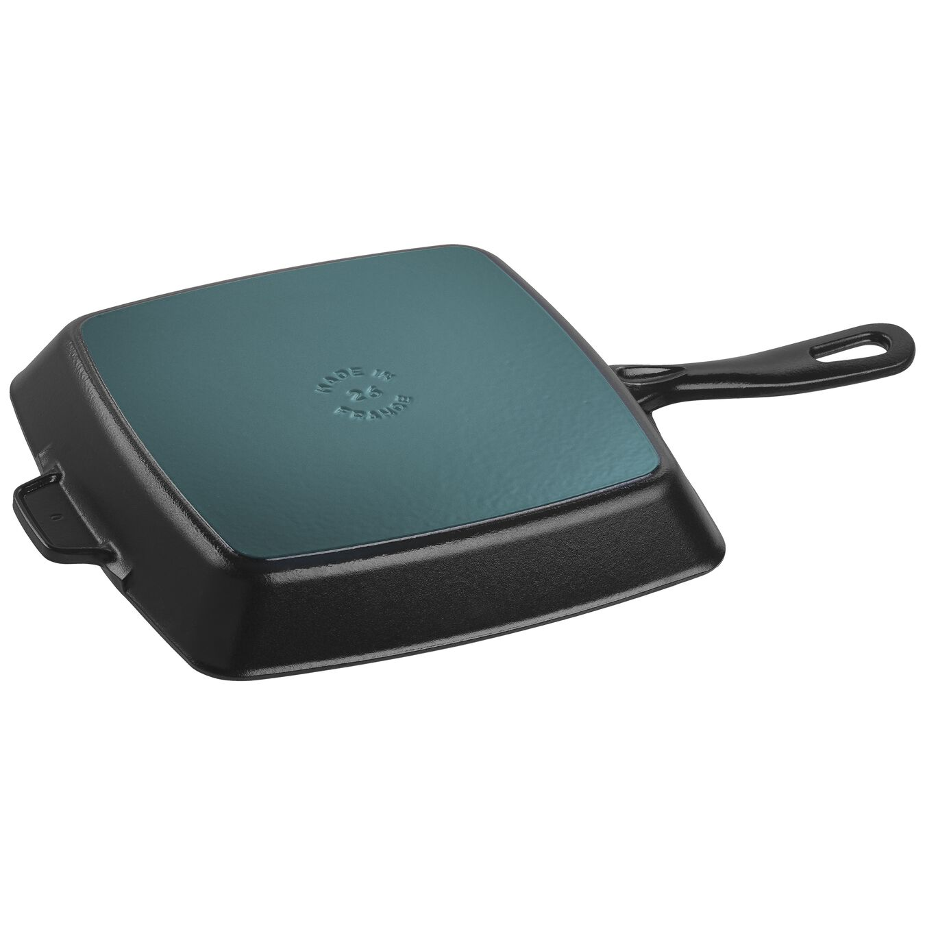 26 cm Cast iron square American grill, Black,,large 2