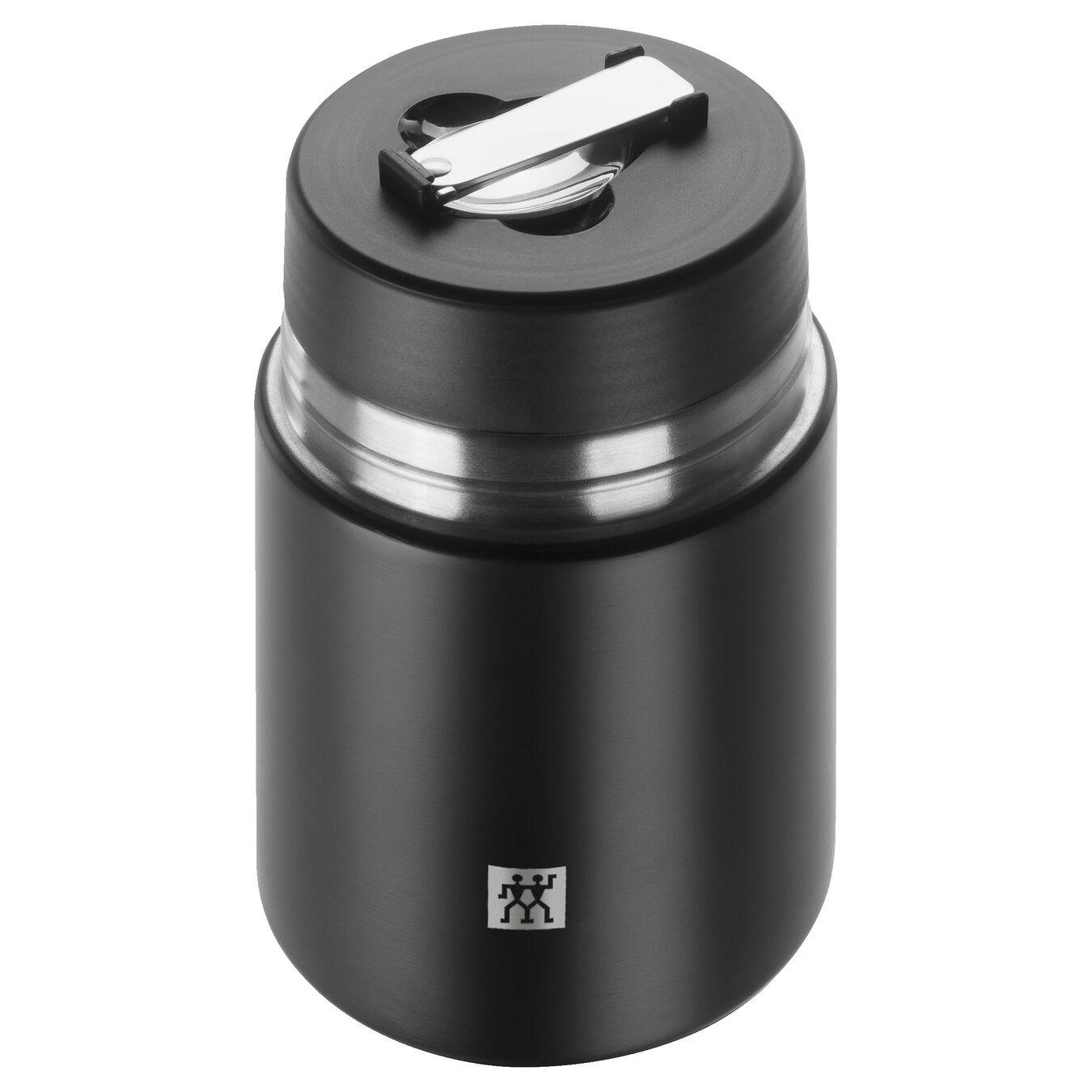 Food jar, black | Stainless steel | 700 ml,,large 2