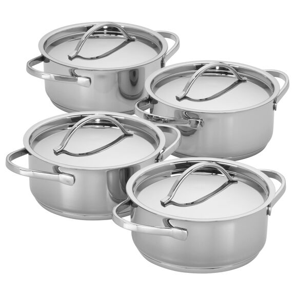 4-pc Stainless Steel Mini Dutch Oven Set, , large