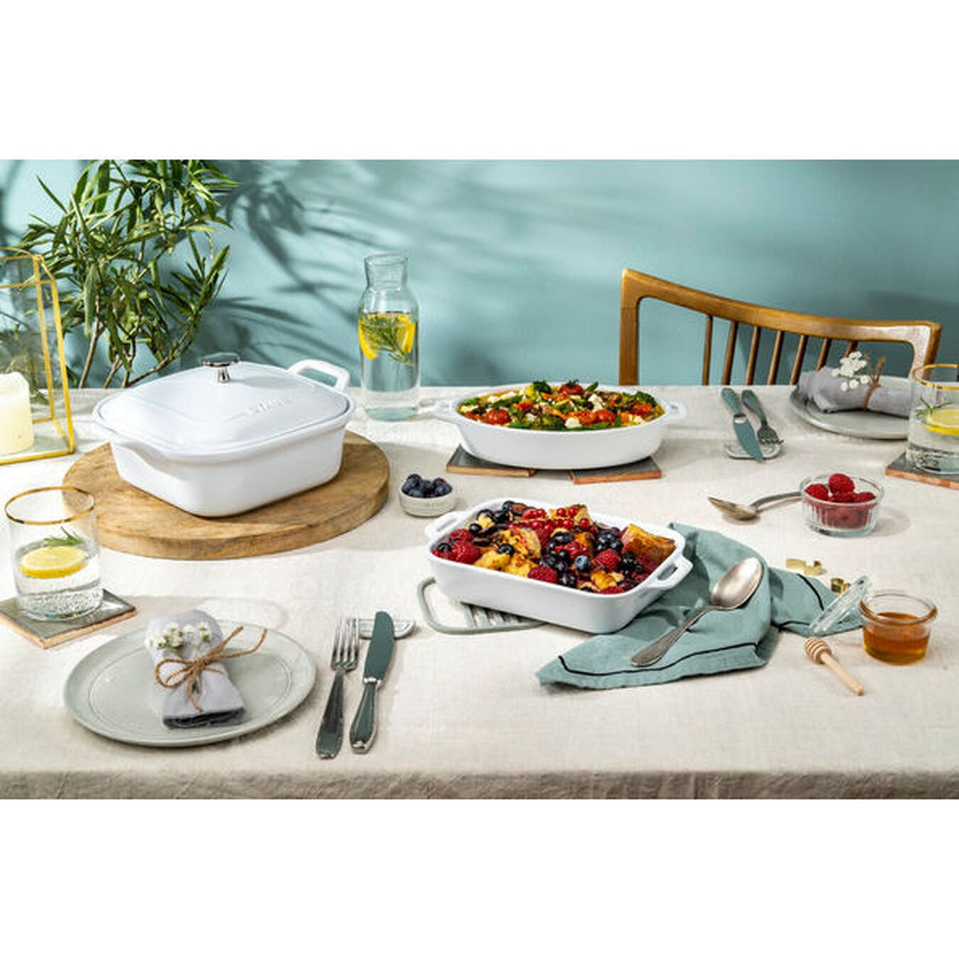 Ovenware set, 4 Piece | white,,large 6