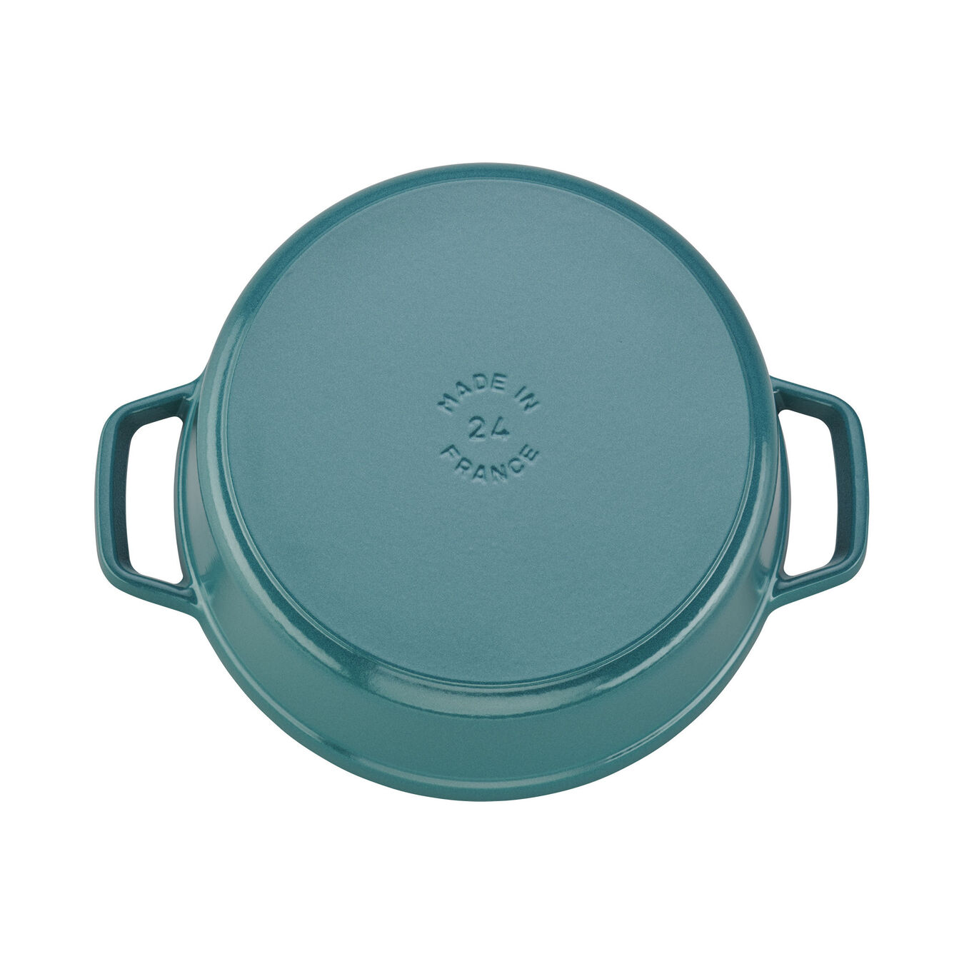 4 qt, round, Cocotte, turquoise,,large 2