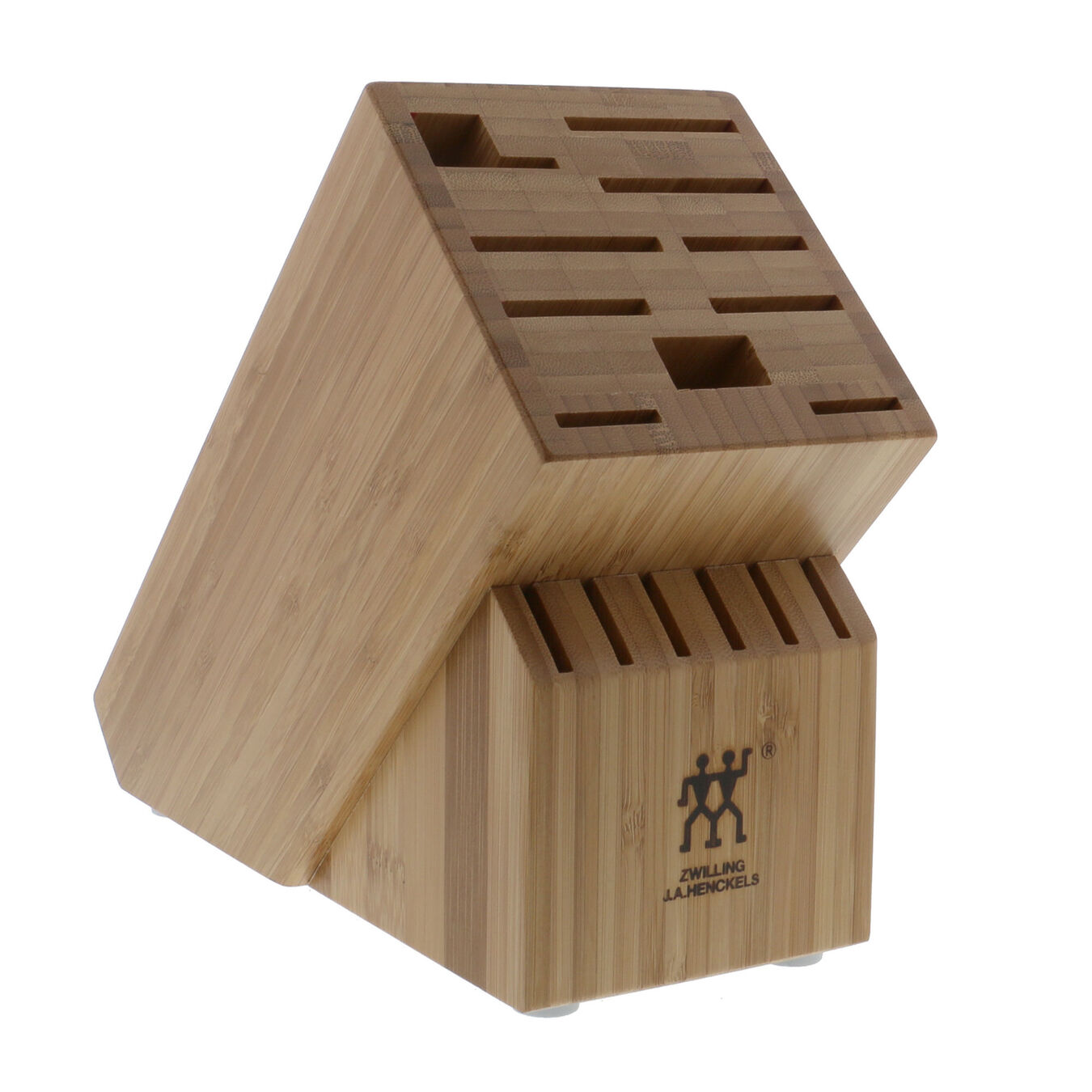 bamboo, TWIN Knife block empty,,large 1