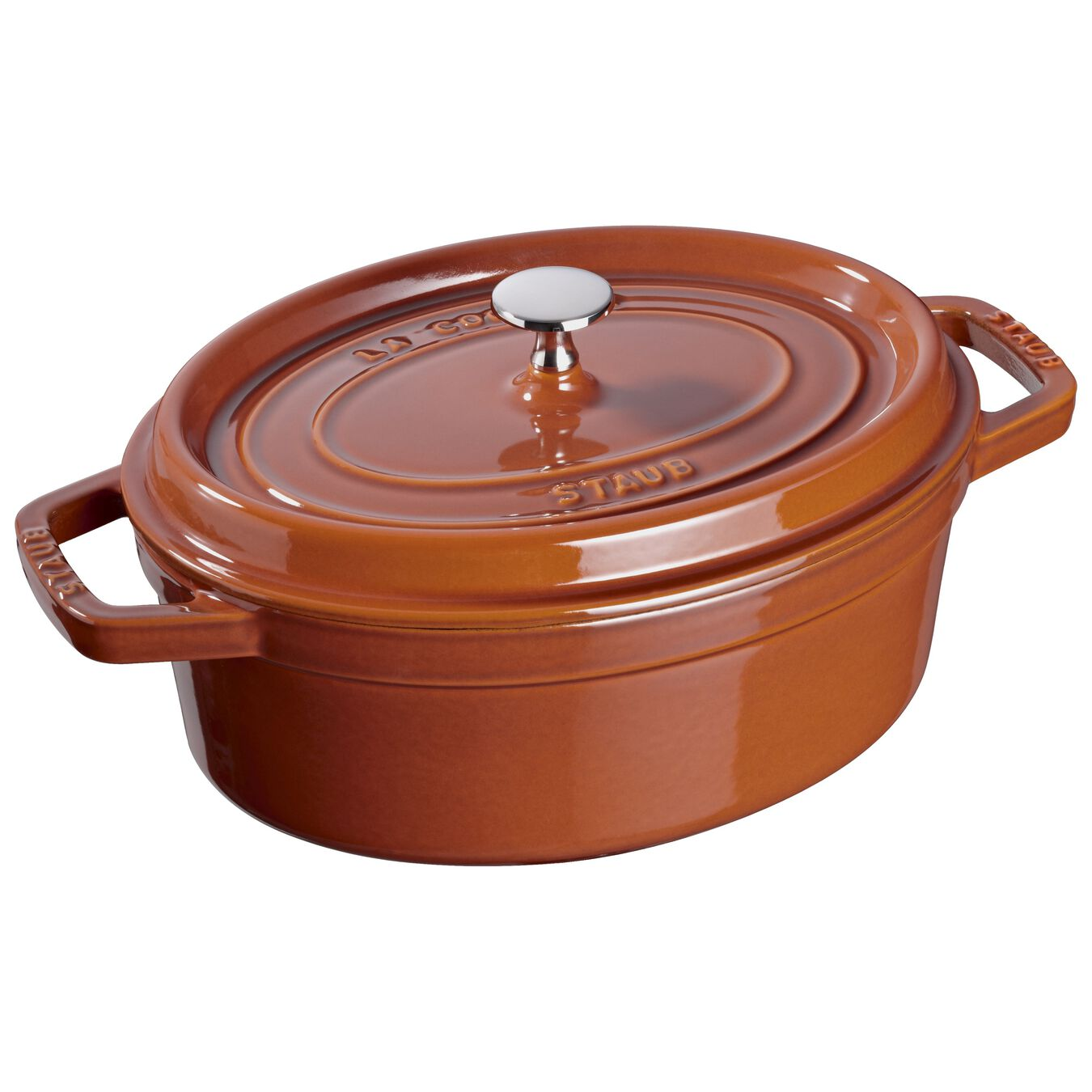 Cocotte ovale - 29 cm, cannella,,large 1