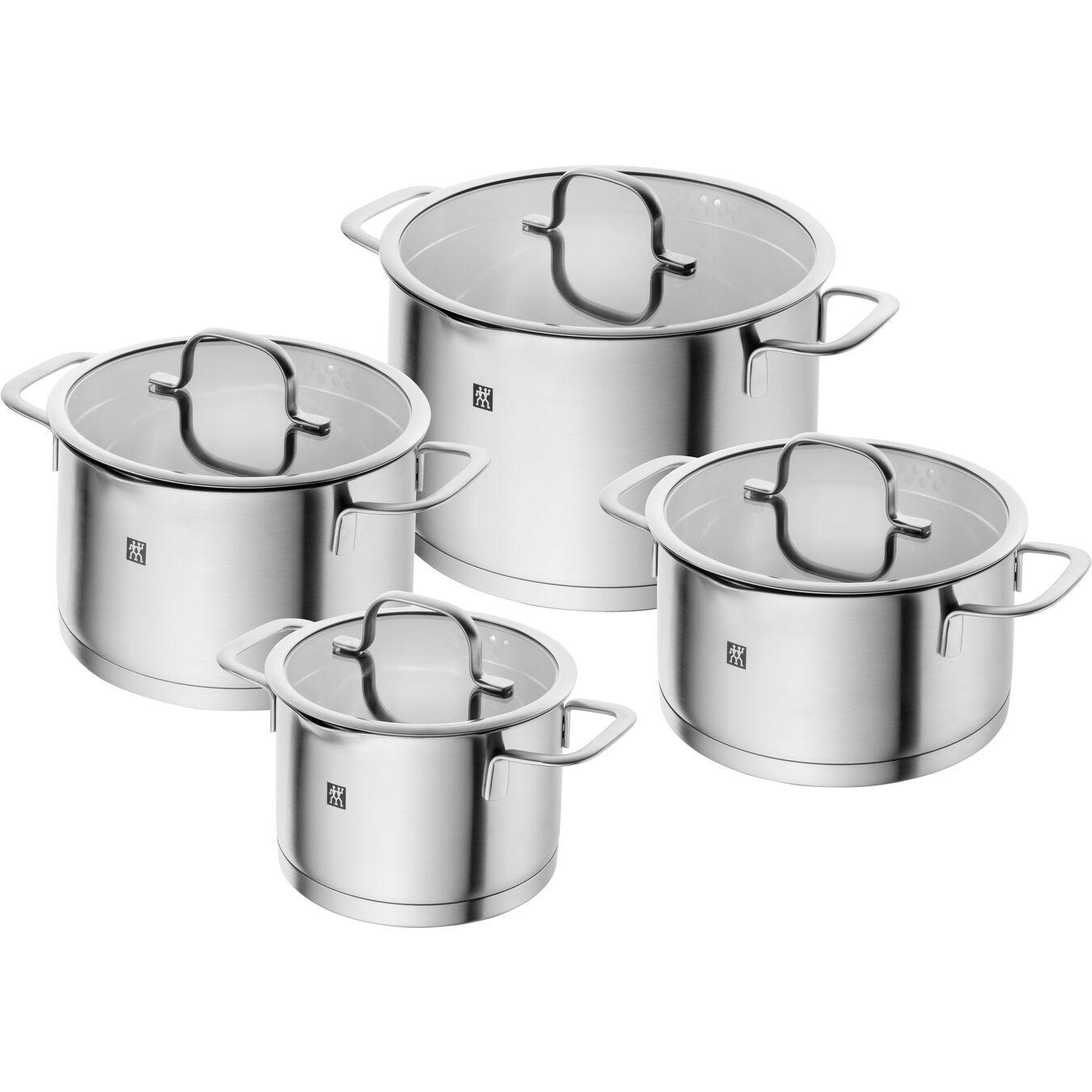 Ensemble de casseroles 4-pcs, Acier inoxydable,,large 1