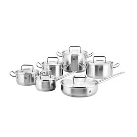 ZWILLING TWIN Classic, 12 Piece 18/10 Stainless Steel Cookware set