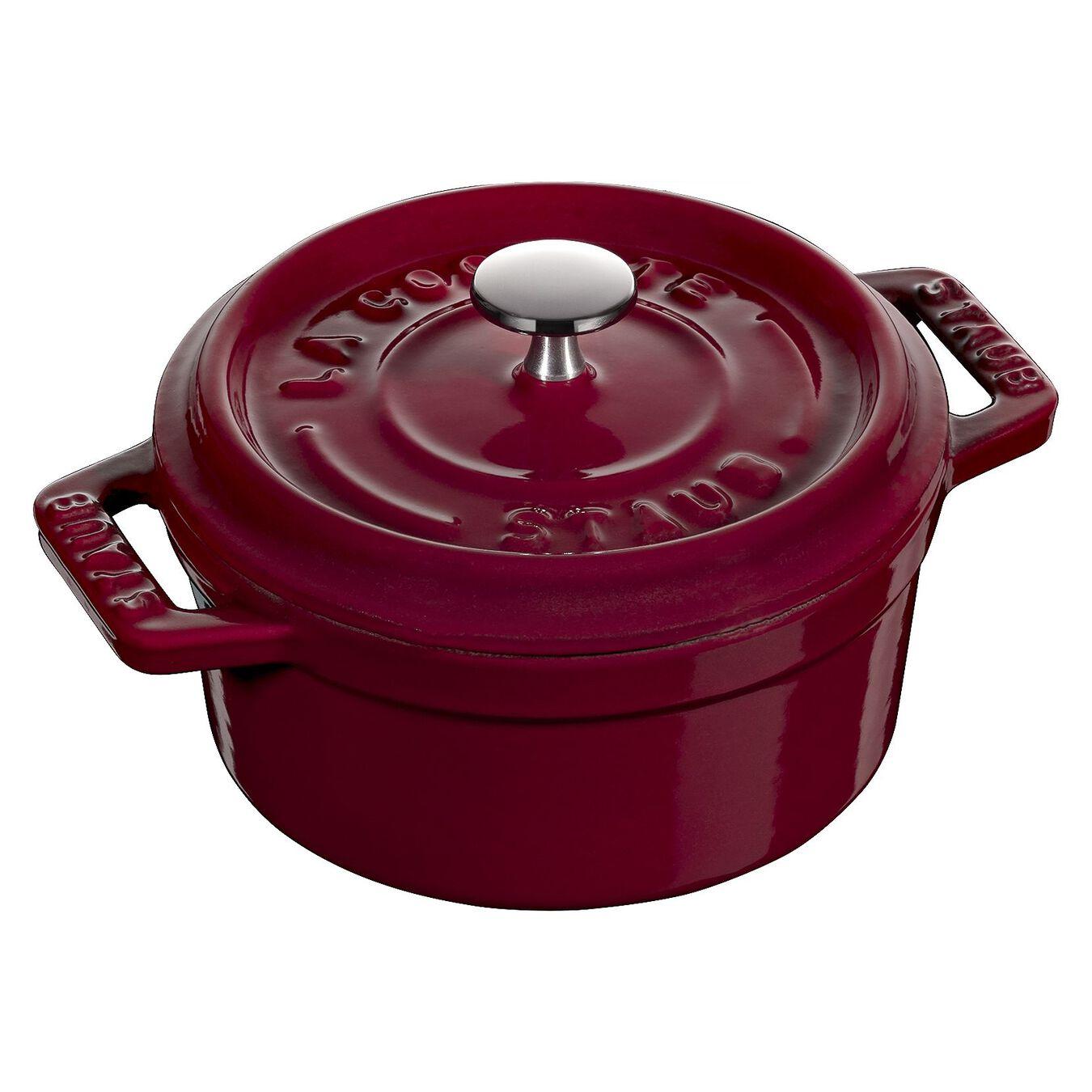 250 ml Cast iron round Mini Cocotte, Bordeaux,,large 1