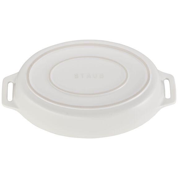 11-inch Oval Baking Dish, Matte White, , large 3