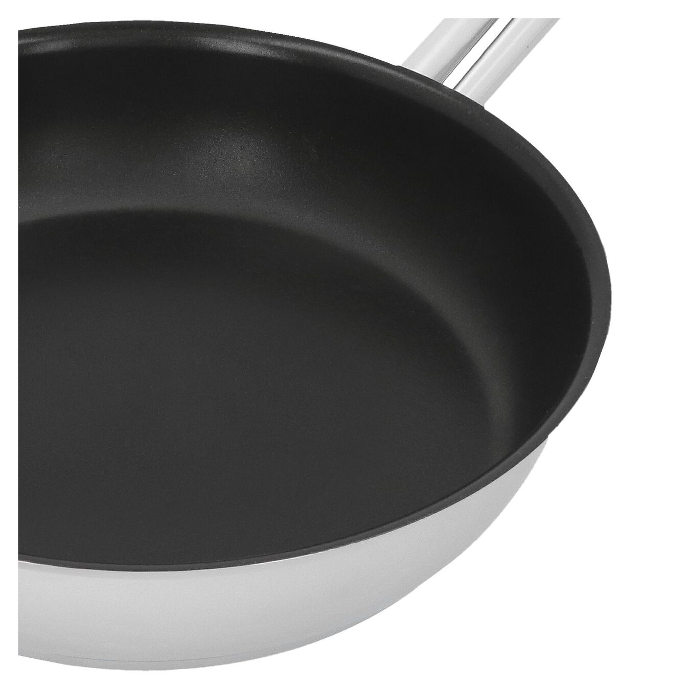 Stekpanna 24 cm, 18/10 Rostfritt stål, Silver-Svart,,large 2