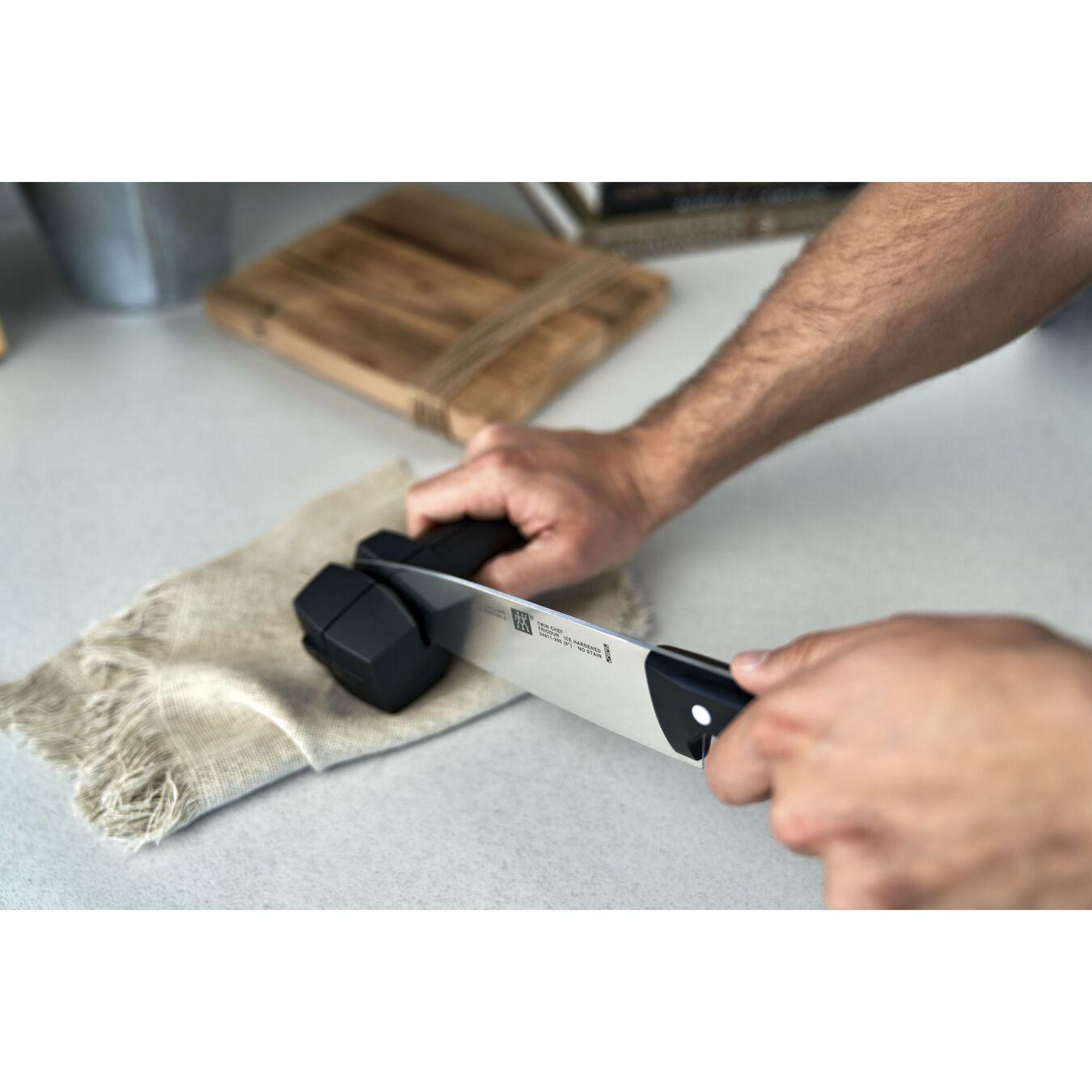 Knife sharpener, 20 cm | black | plastic,,large 3