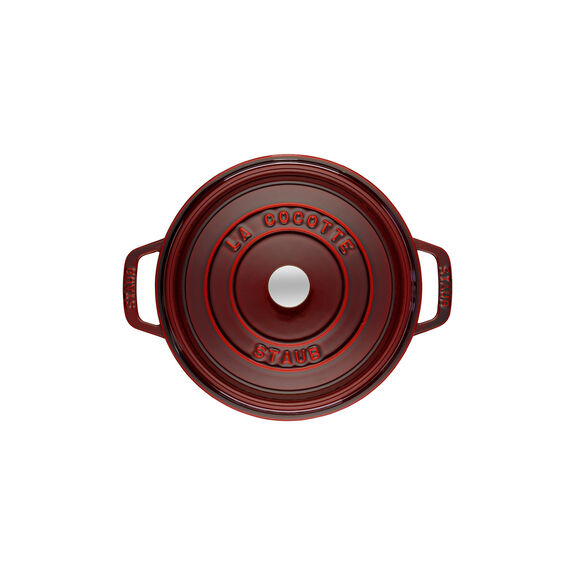 Döküm Tencere, 22 cm | Bordo | Yuvarlak | Döküm Demir,,large 3