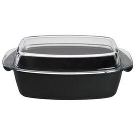 BALLARINI Gli Speciali, Cocotte con coperchio di vetro - 32 cm, nero