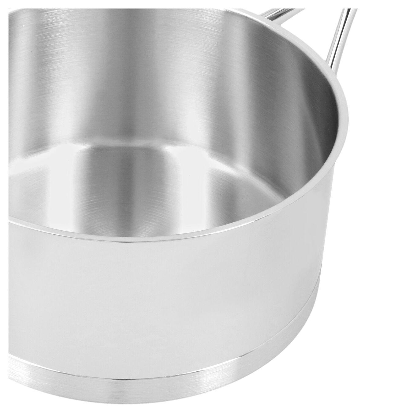 Casseruola con manico con coperchio - 20 cm, 18/10 acciaio inossidabile,,large 3