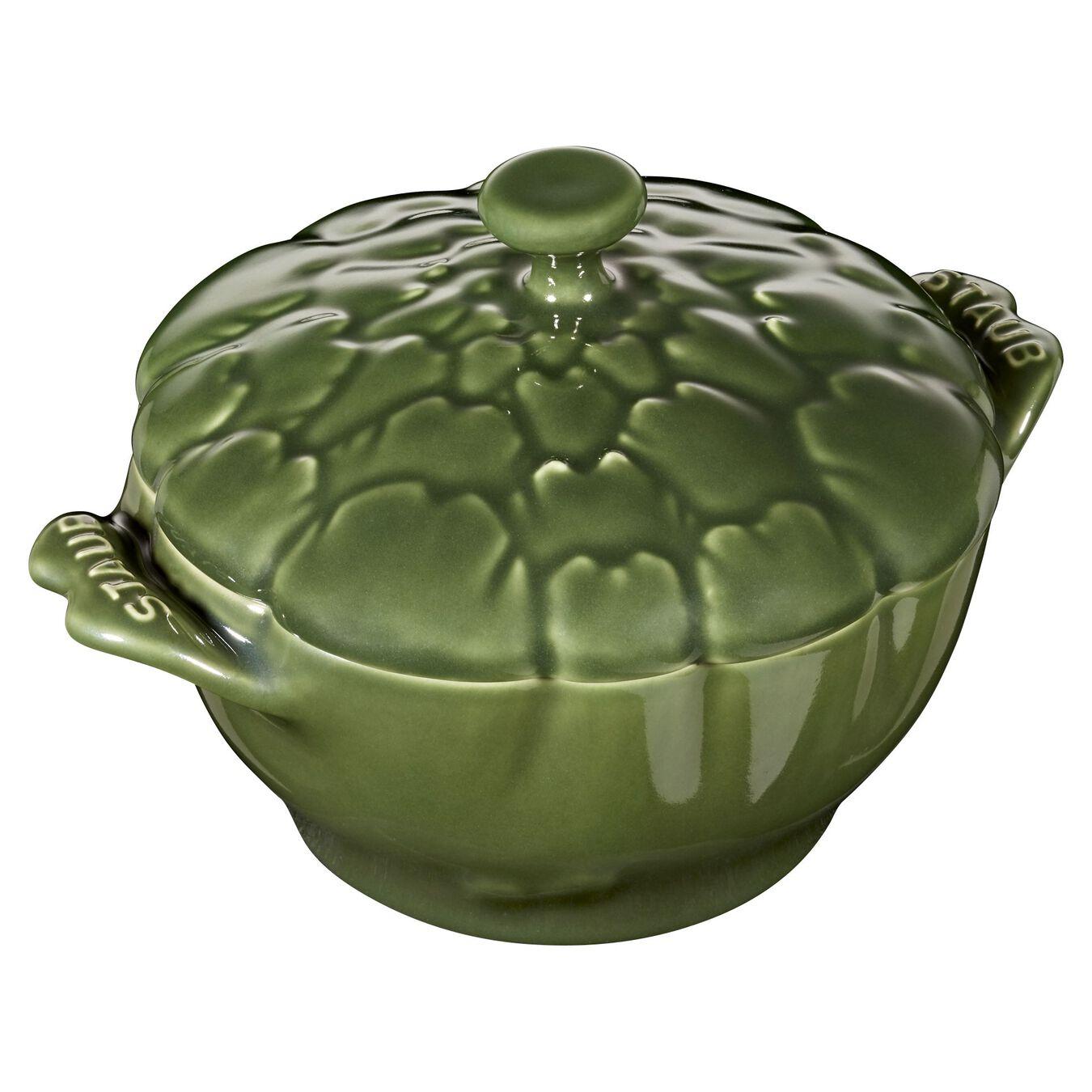 Ceramic Cocotte | Fesleğen | 13 cm | 450 ml | Enginar,,large 1