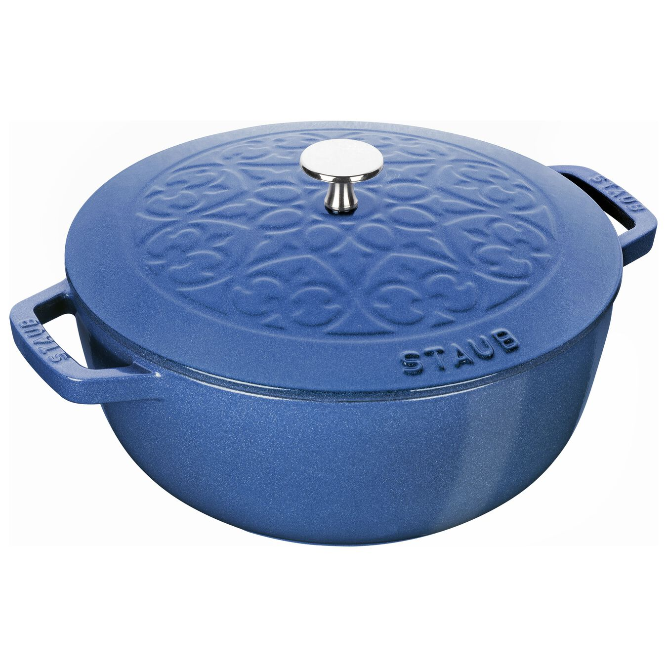 3.75 qt, French oven, metallic blue,,large 1